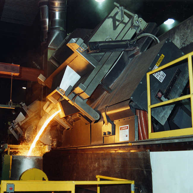 Inductotherm Heavy Steel Shell Furnace